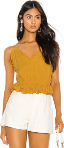 A Change Of Heart Cami in Mustard. - size XS (also in L,M,S)