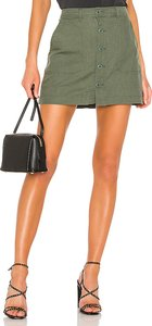 Venture Surplus Button Front Skirt in Green. - size L (also in XS,S,M)