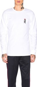 Crown Long Sleeve Tee in White. - size M (also in S,L)