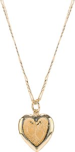 The Lover Locket Necklace in Metallic Gold.