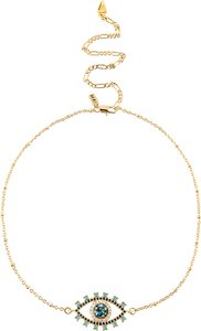 The Glaring Necklace in Metallic Gold.