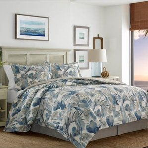 Raw Coast Comforter, Sham & Bed Skirt Set, Size California King - Blue