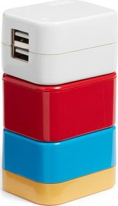 5-In-1 Universal Travel Adapter - Red