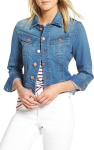 Petite Women's 1901 Crop Denim Jacket, Size Medium P - Blue