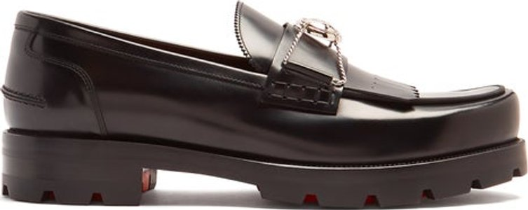 'bubbly' Leather Loafer - Mens - Black