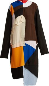 Colour Block Patchwork Dress - Womens - Multi