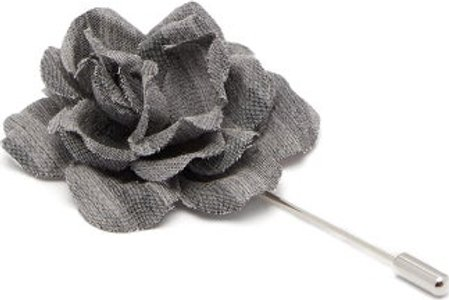 Gardenia Tie Pin - Mens - Light Grey