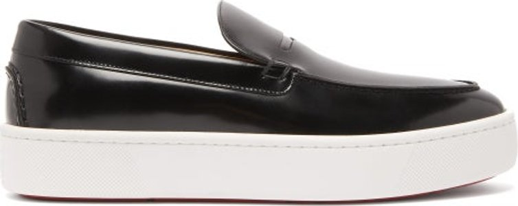 Paqueboat Leather Deck Shoes - Mens - Black