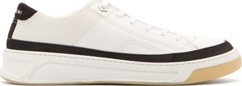 Prodigy Leather Low Top Trainers - Mens - White Black