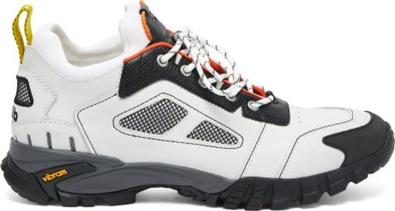 Security Low Top Leather Trainers - Mens - White