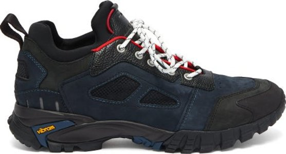 Security Low Top Leather Trainers - Mens - Black