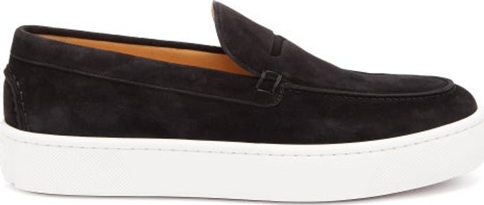 Paqueboat Suede Deck Shoes - Mens - Black