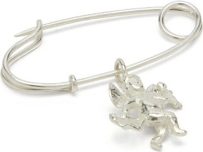 Cupid Sterling Silver Pin - Mens - Silver