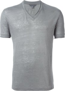 V-neck T-shirt - Grey