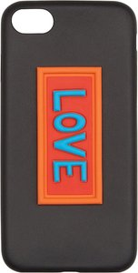 Love appliqué iPhone cover - Black