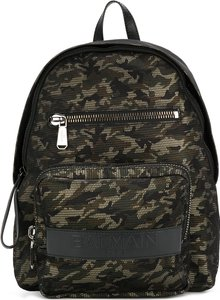 camouflage print backpack - men - Calf Leather/Polyester - One Size - Green