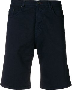 straight cut bermudas - Blue