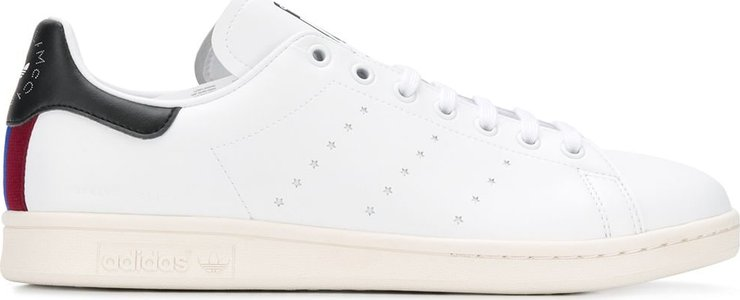branded heel counter sneakers - White