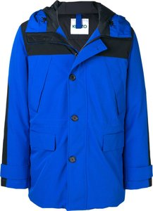 padded rain coat - Blue