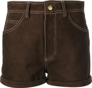 high waisted shorts - Brown