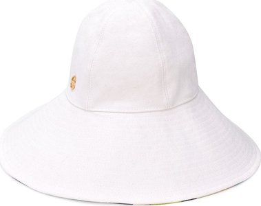 wide brim hat - White