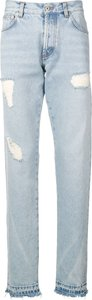 distressed detail jeans - Blue
