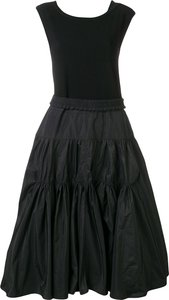 taffeta dress - Black