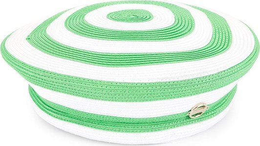 woven striped beret - Green