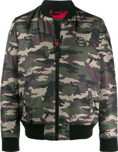 Space camouflage print bomber jacket - Green