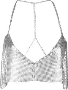 sequin embroidered top - Silver