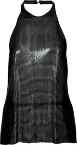 backless chainmail top - Black