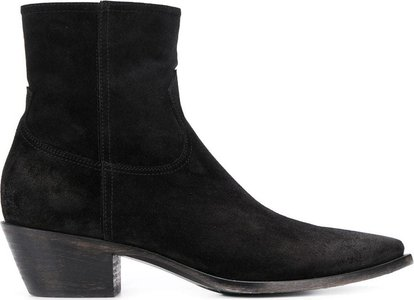 low heel boots - Black
