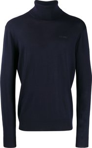 knitted roll-neck - Blue