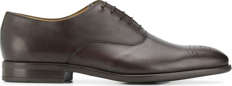 perforated oxford shoes - Brown