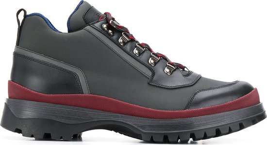 lace-up trekking boots - Grey