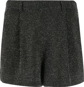 high-waisted mini shorts - Black