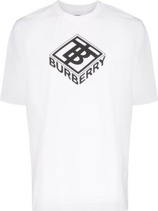 logo-print cotton T-shirt - White
