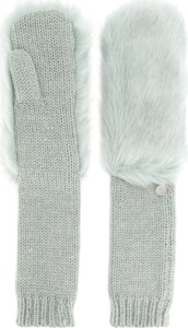 long knitted mittens - Green