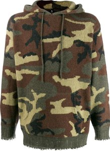 camouflage hooded jumper - Green