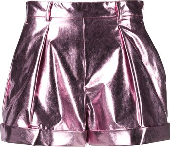 metallic shorts - Pink