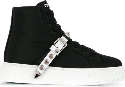 embellished high top sneakers - Black