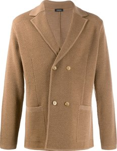 double-breasted cardigan - Brown