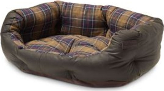 Waxed Cotton Dog Bed, 30