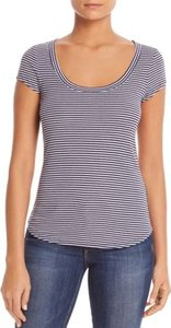 Striped Scoop-Neck Tee