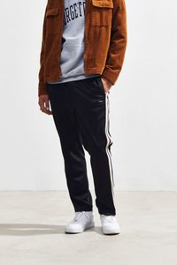 Textured Rib Track Pant - Black L at Urban Outfitters