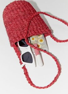 Burlap Bucket Bag - Red at Urban Outfitters