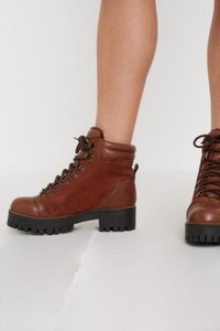UO Bex Hiker Boot - Brown 5 at Urban Outfitters
