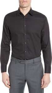 Big & Tall Nordstrom Men's Shop Extra Trim Fit Non-Iron Solid Dress Shirt