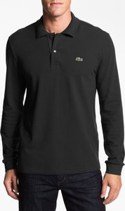 Regular Fit Long Sleeve Pique Polo