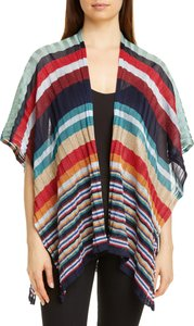 Stripe Rib Knit Cape